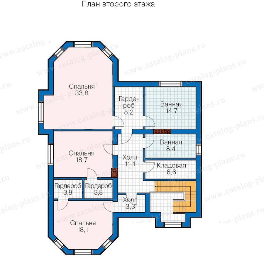 План 2-этажа проекта 57-69