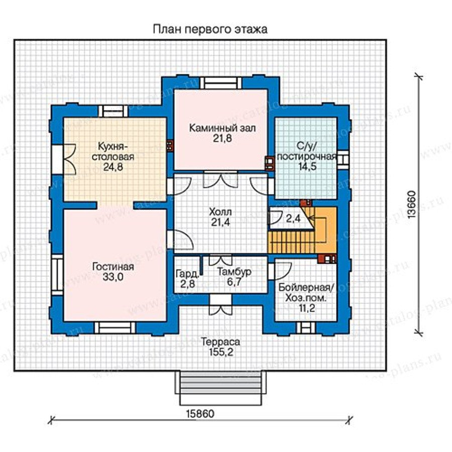 План 1-этажа проекта 40-36G