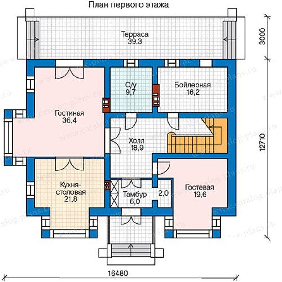 План 1-этажа проекта 40-34G