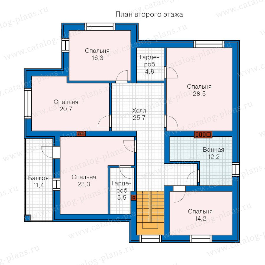 План 2-этажа проекта 57-56K