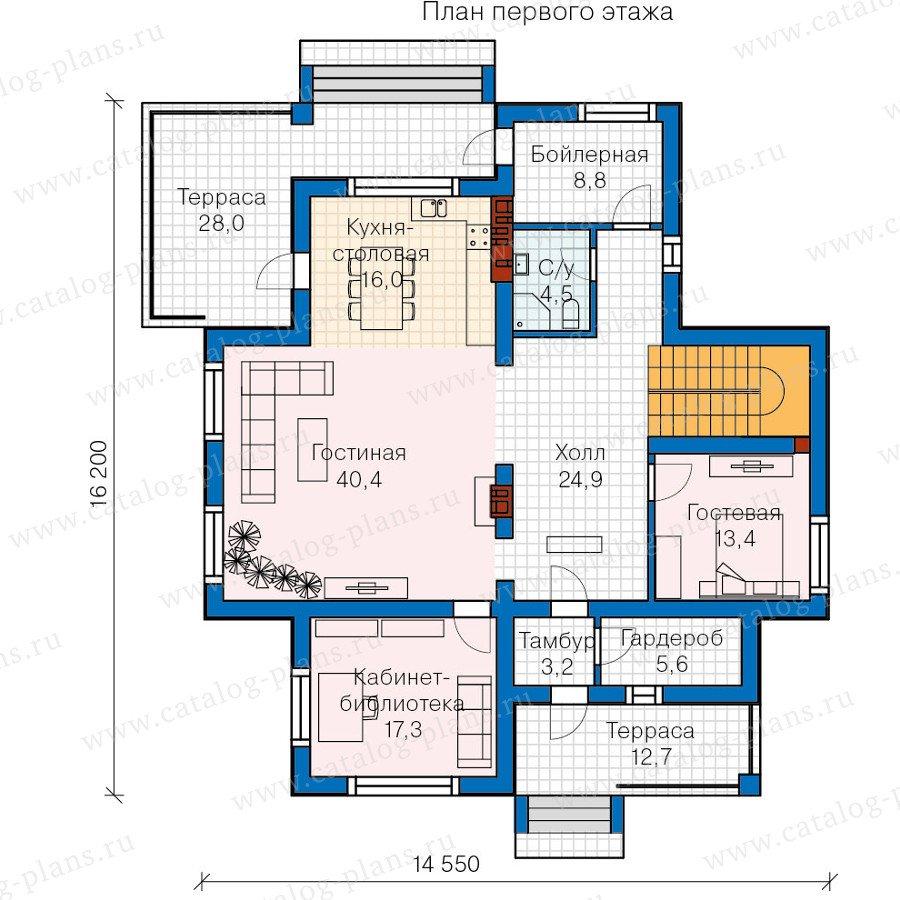 План 1-этажа проекта 57-58K