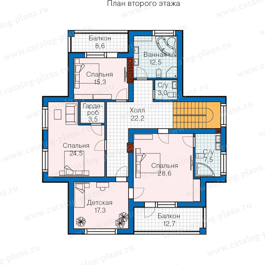 План 2-этажа проекта 57-58K