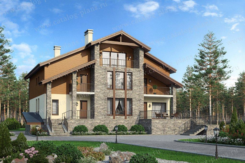 Проект жилой дом #57-70K материал - кирпич, стиль европейский