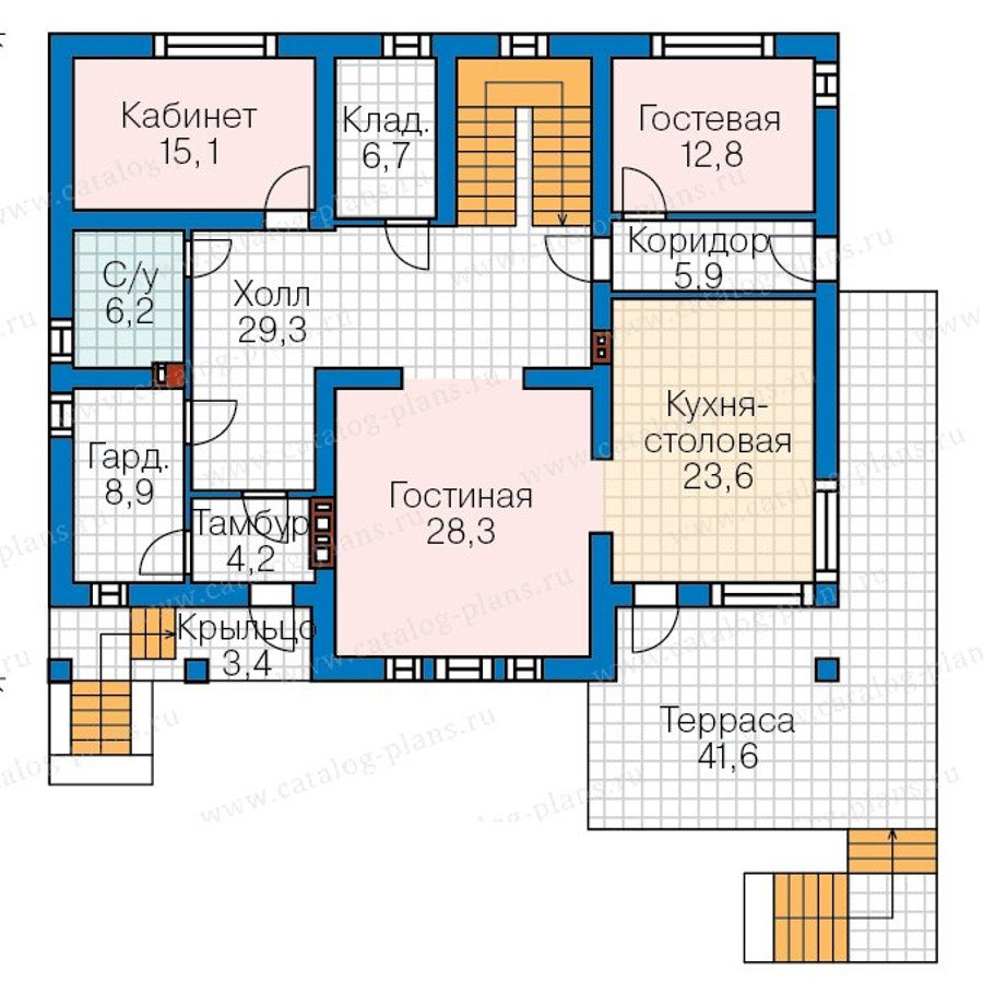 План 2-этажа проекта 57-70K