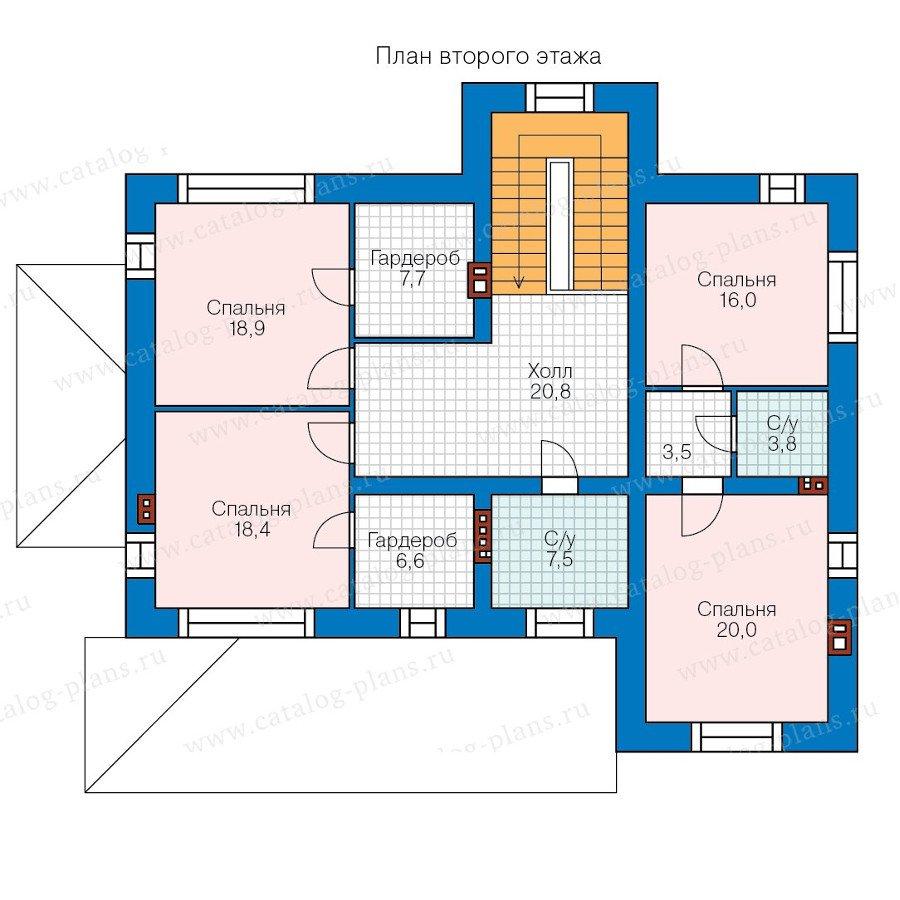 План 2-этажа проекта 40-43L