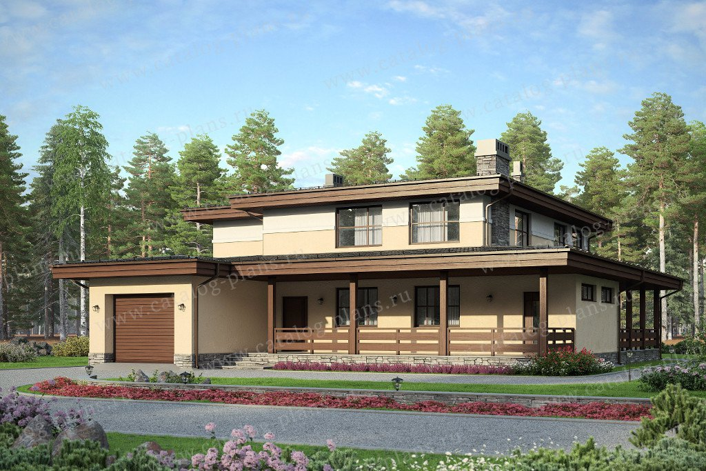 Проект жилой дом #57-59 материал - газобетон, стиль европейский