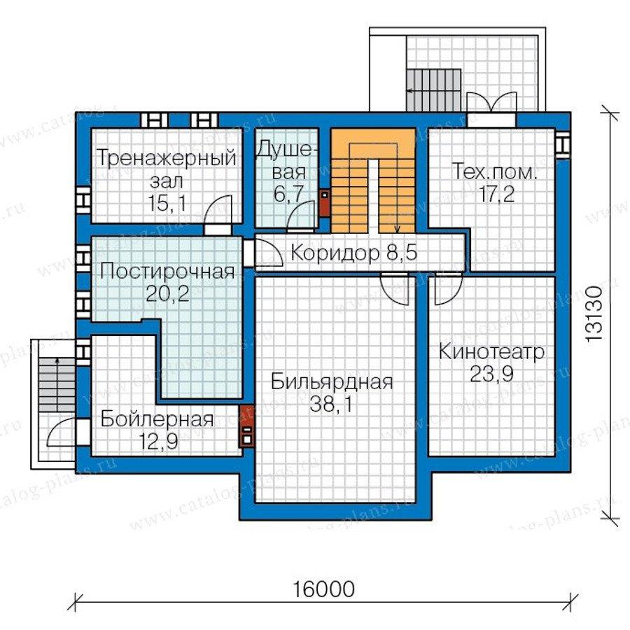 План 1-этажа проекта 57-70K