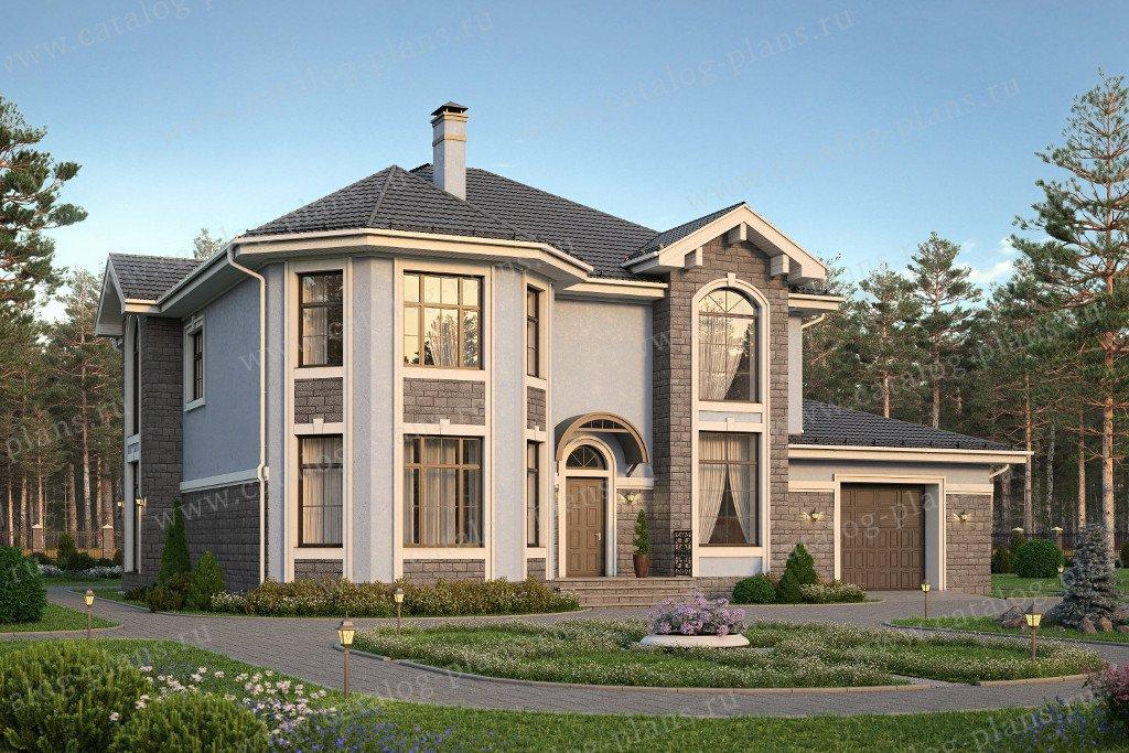 Проект жилой дом #57-69 материал - газобетон, стиль европейский