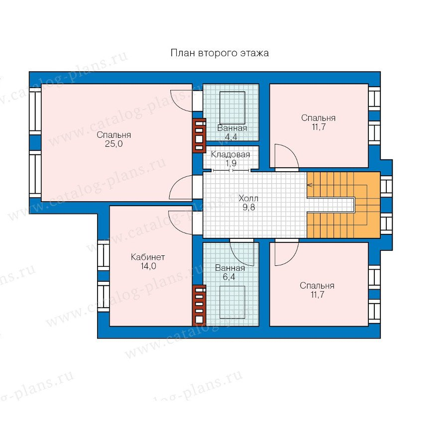 План 2-этажа проекта 57-84