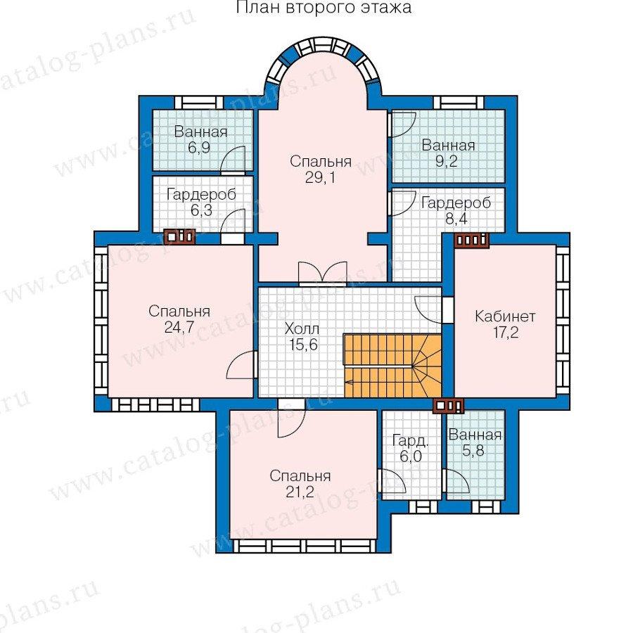 План 2-этажа проекта 57-77