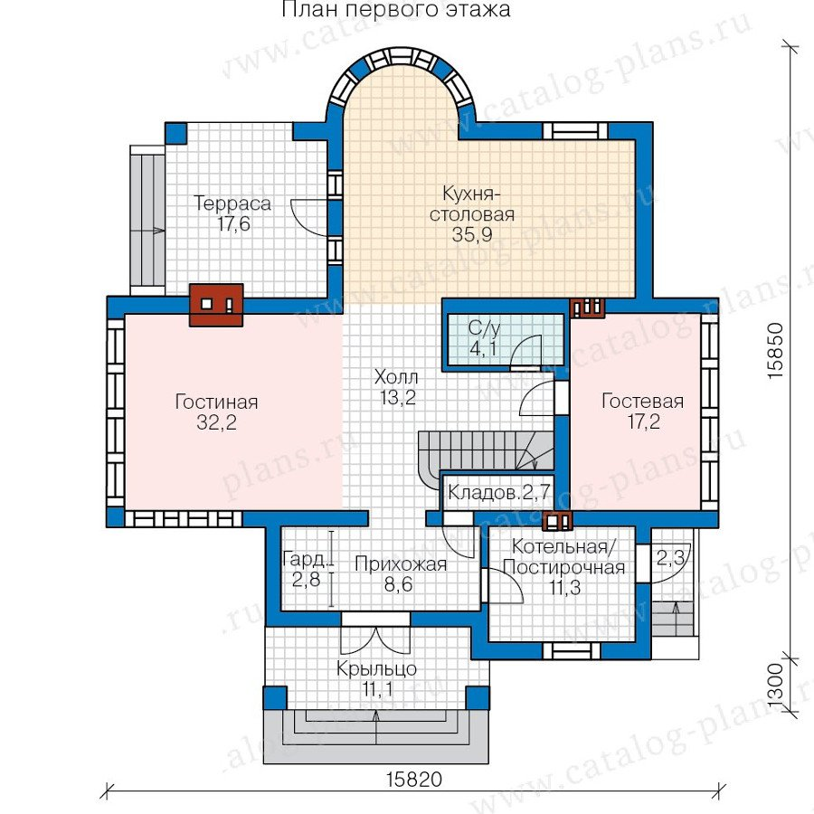 План 1-этажа проекта 57-77