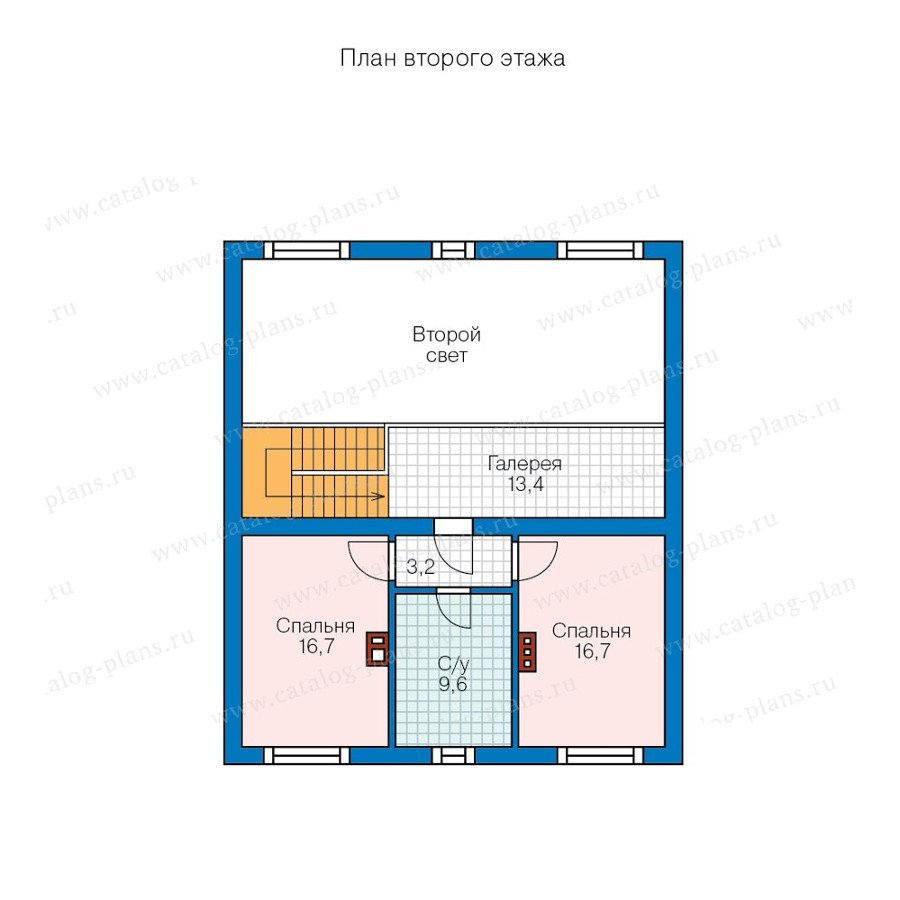 План 2-этажа проекта 57-88K