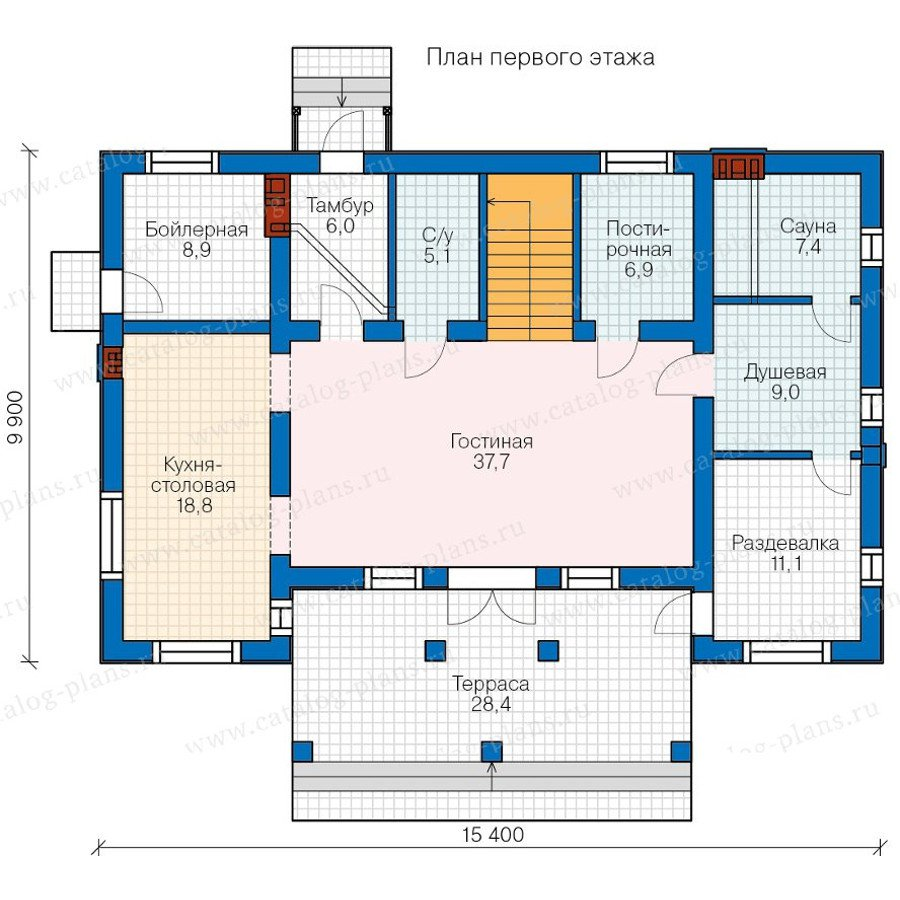План 1-этажа проекта 57-80