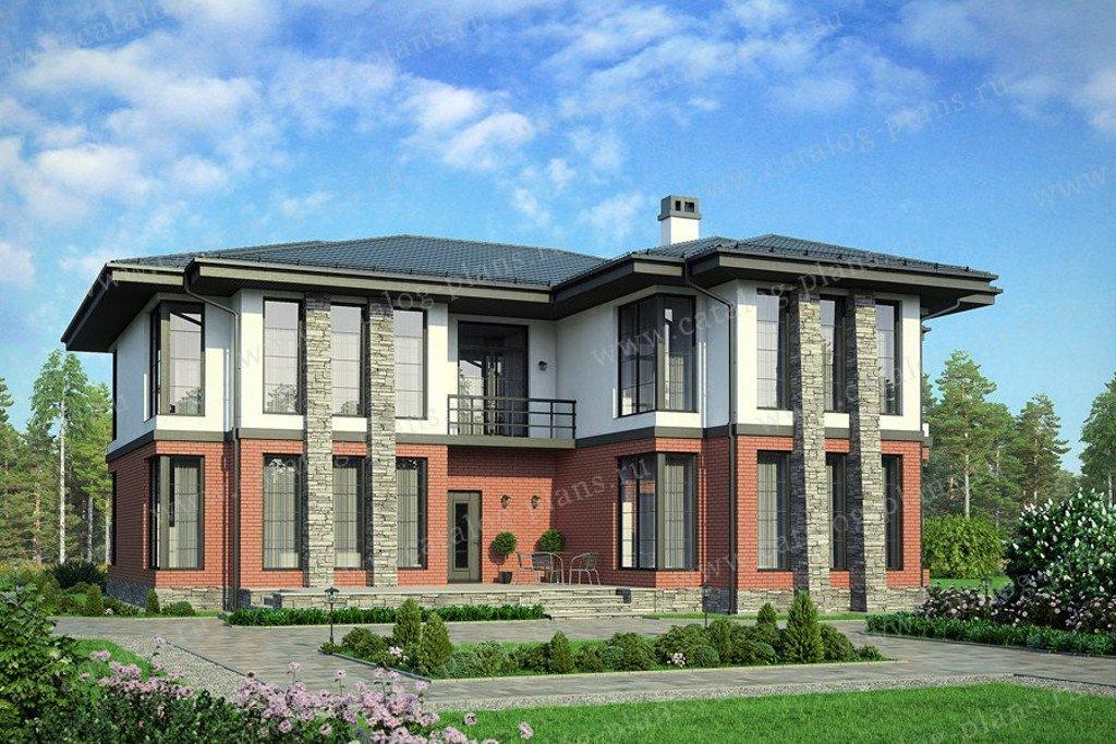 Проект жилой дом #57-99K материал - кирпич, стиль современный