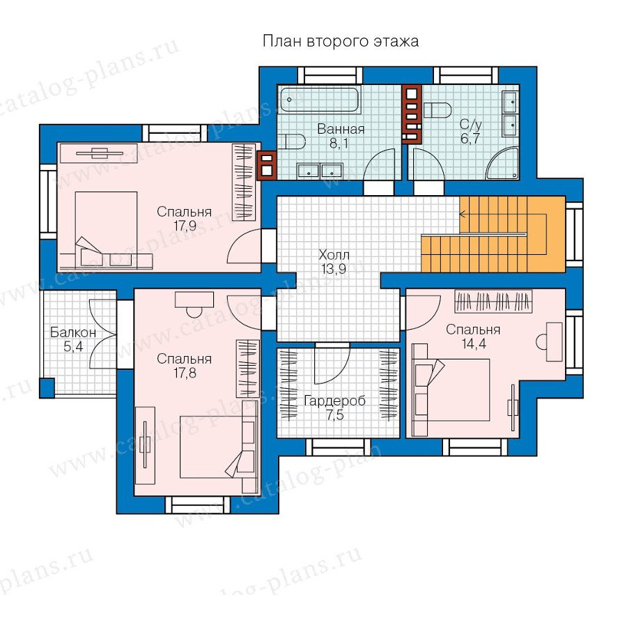 План 2-этажа проекта 57-98K