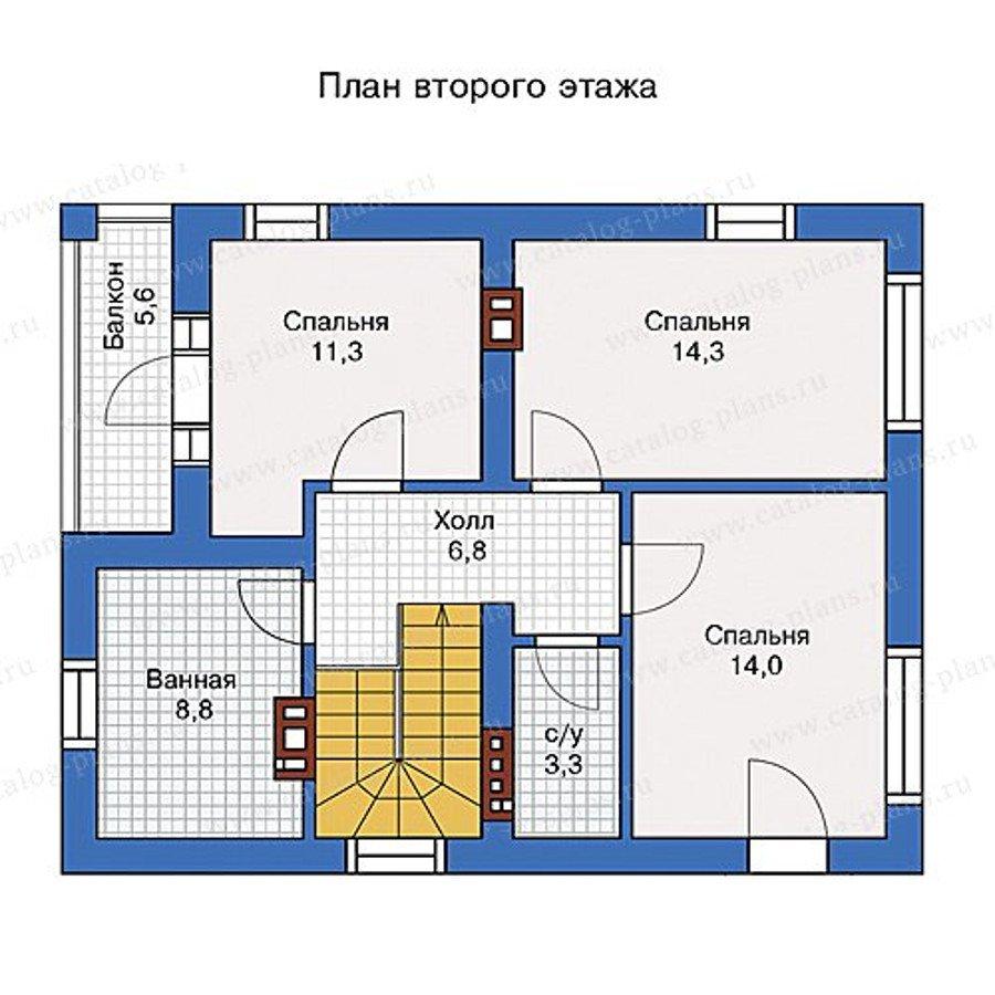 План 2-этажа проекта 57-07KB