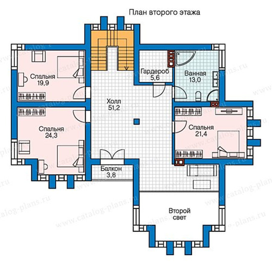 План 2-этажа проекта 57-99K