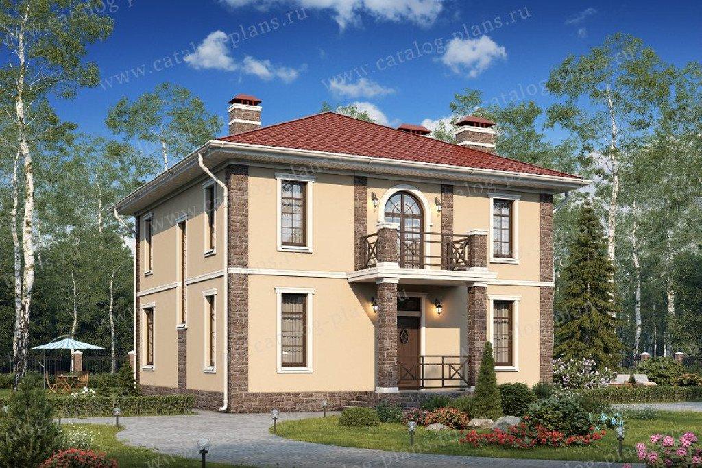 Проект жилой дом #57-05K материал - кирпич, стиль европейский