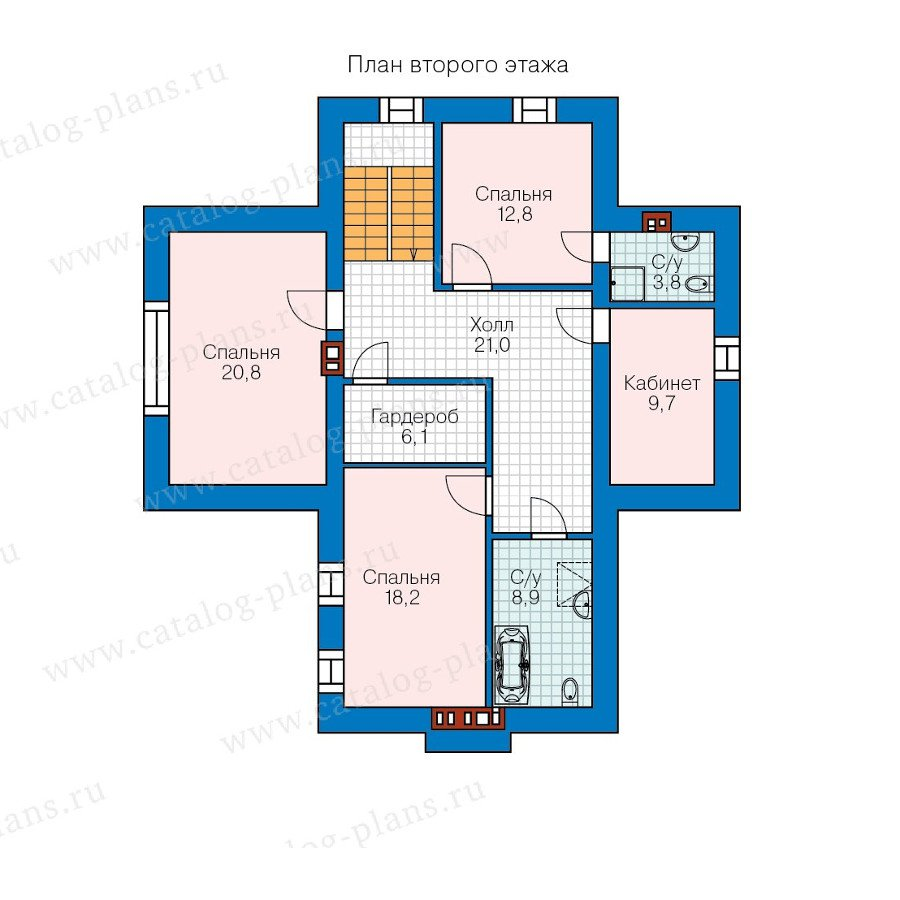 План 2-этажа проекта 57-94K