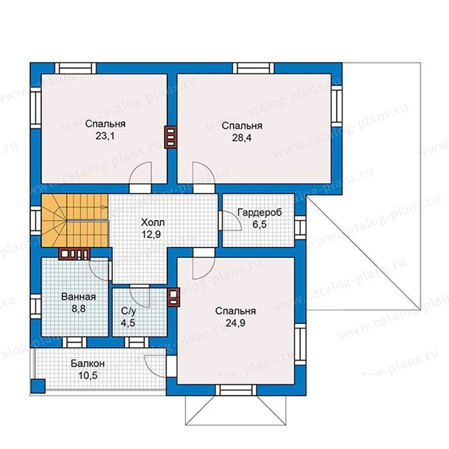 План 2-этажа проекта 57-39K