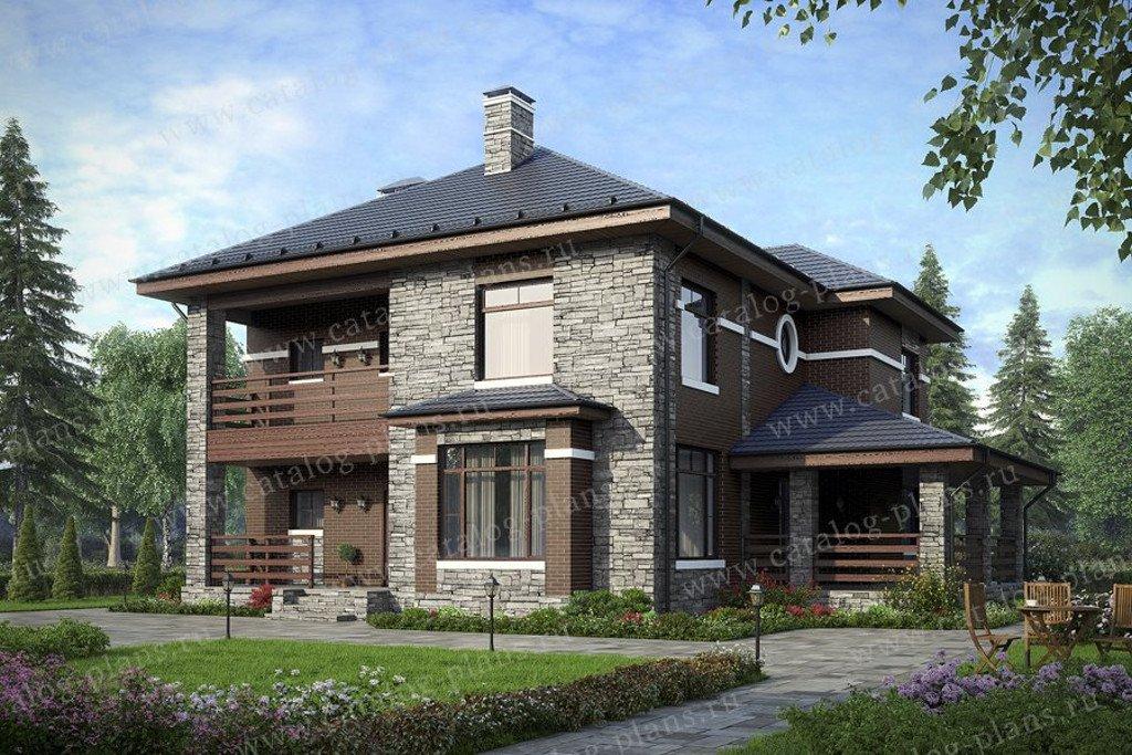 Проект жилой дом #57-39CL материал - газобетон, стиль современный