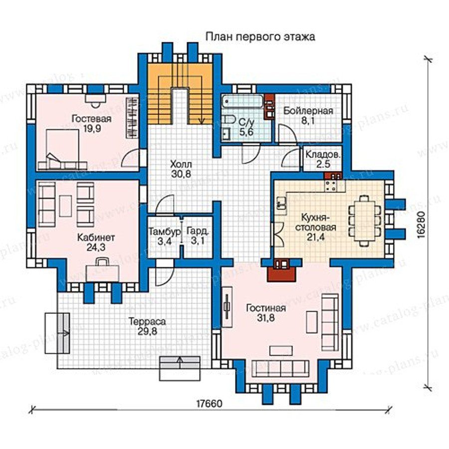 План 1-этажа проекта 57-99K