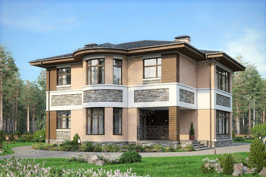 Проект жилой дом #57-77A материал - газобетон, стиль европейский