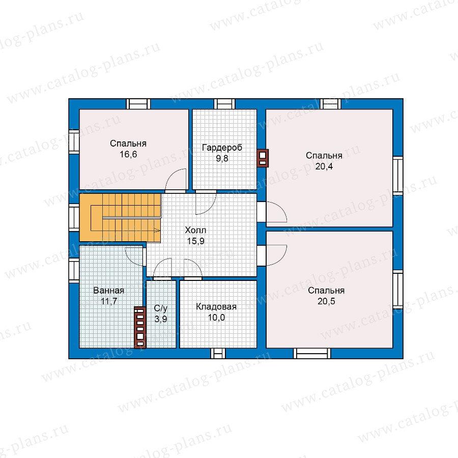 План 2-этажа проекта 57-47
