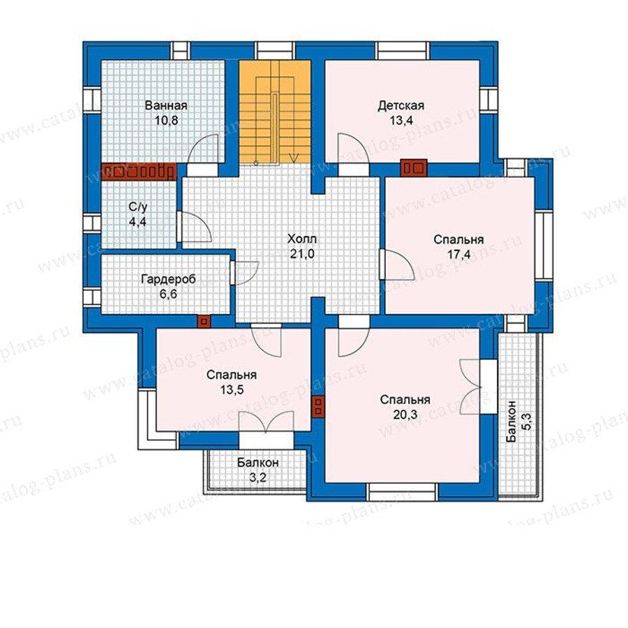 План 2-этажа проекта 57-49K