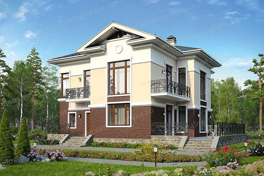 Проект жилой дом #57-49K материал - кирпич, стиль американский