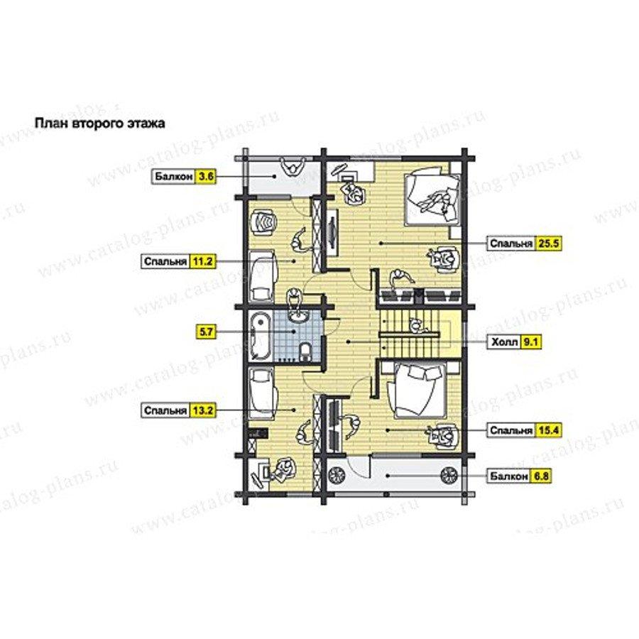 План 2-этажа проекта 49-71B