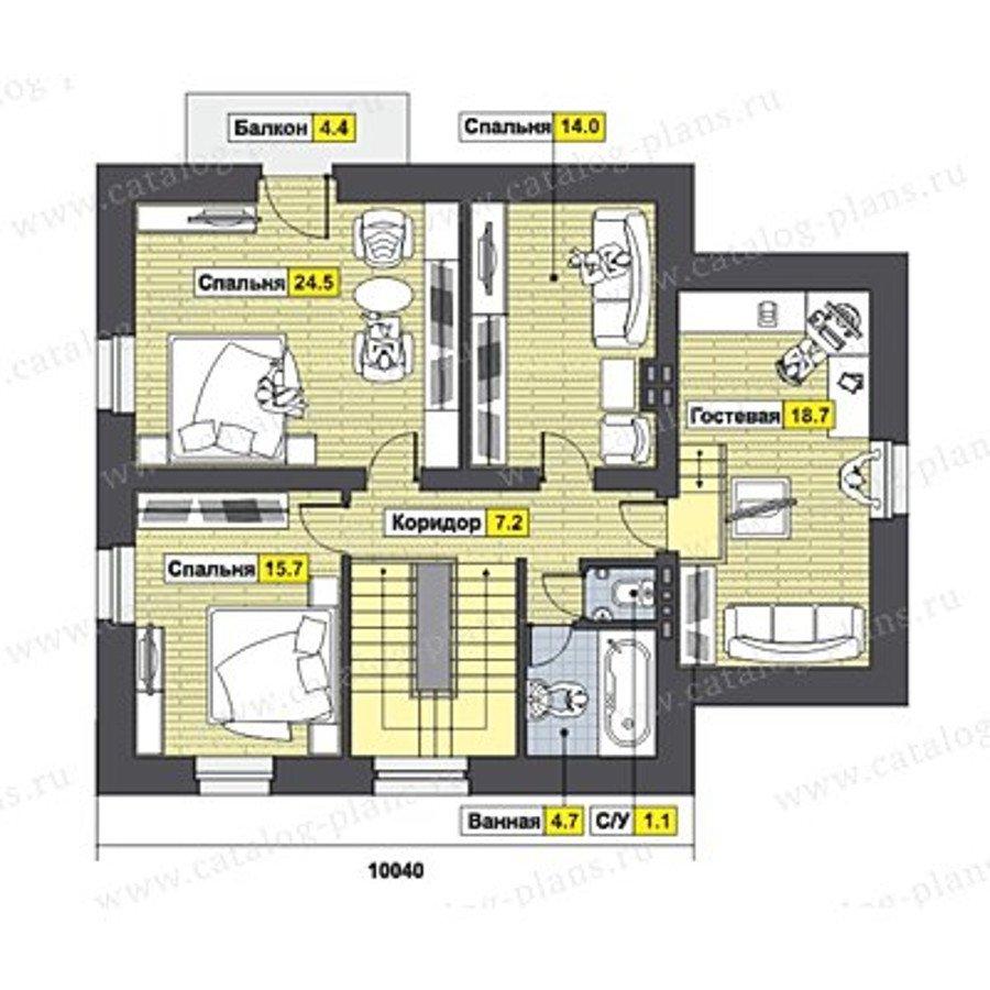 План 2-этажа проекта 49-51K