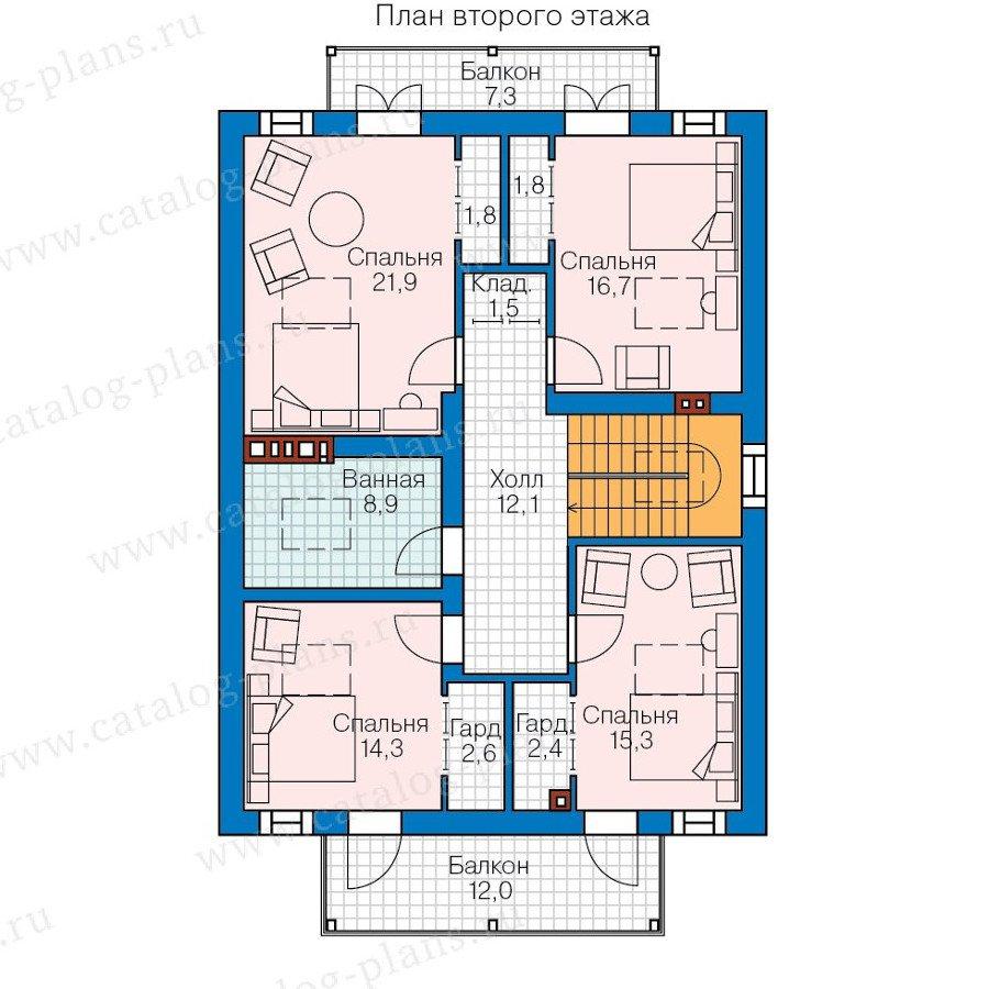 План 2-этажа проекта 57-83K