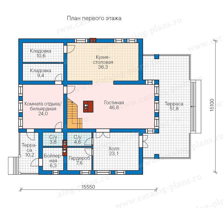 План 1-этажа проекта 57-82A