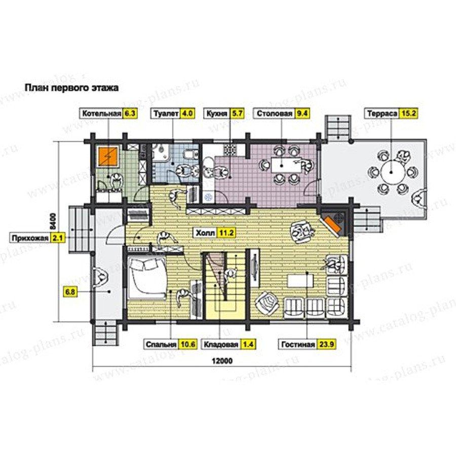 План 1-этажа проекта 49-71AB