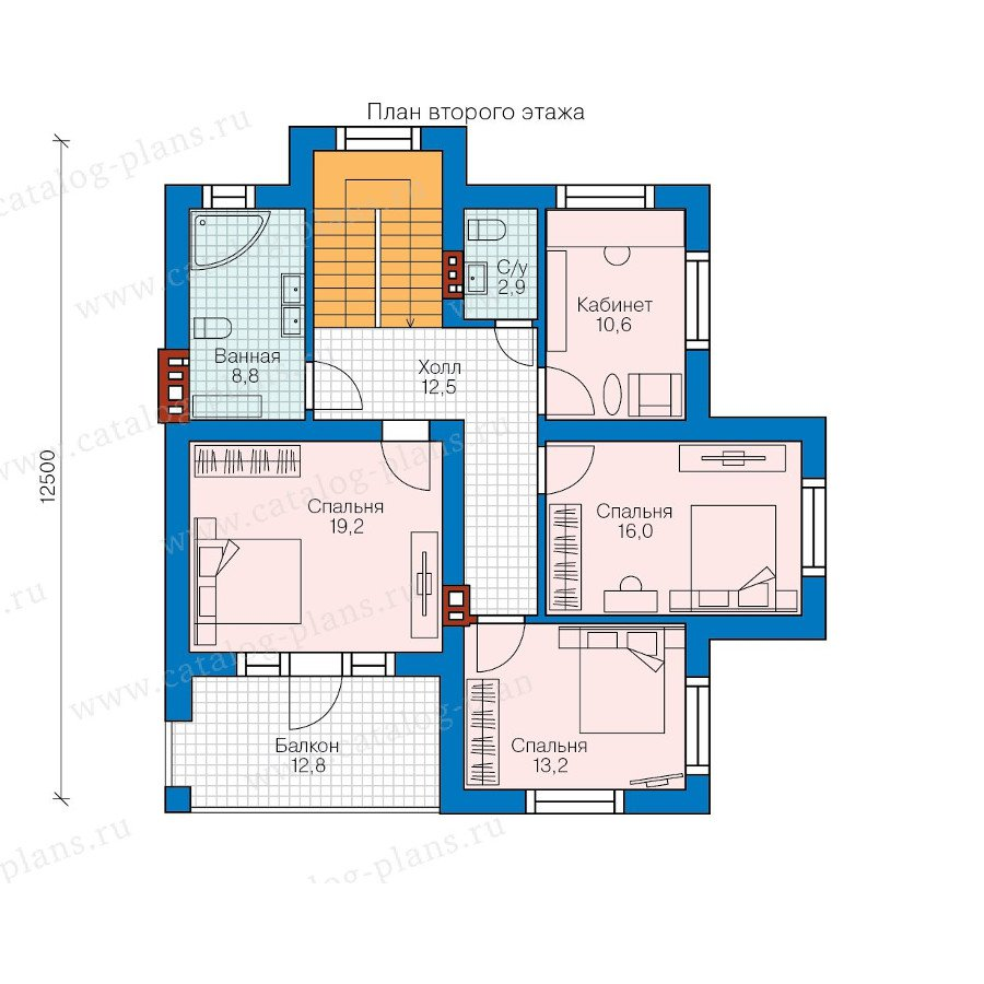 План 2-этажа проекта 57-97K