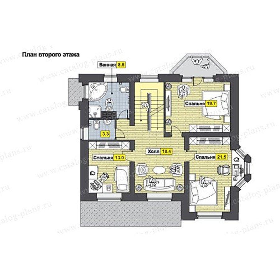 План 2-этажа проекта 49-80G