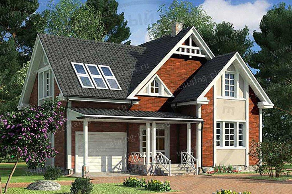 Проект жилой дом #49-60K материал - кирпич, стиль европейский