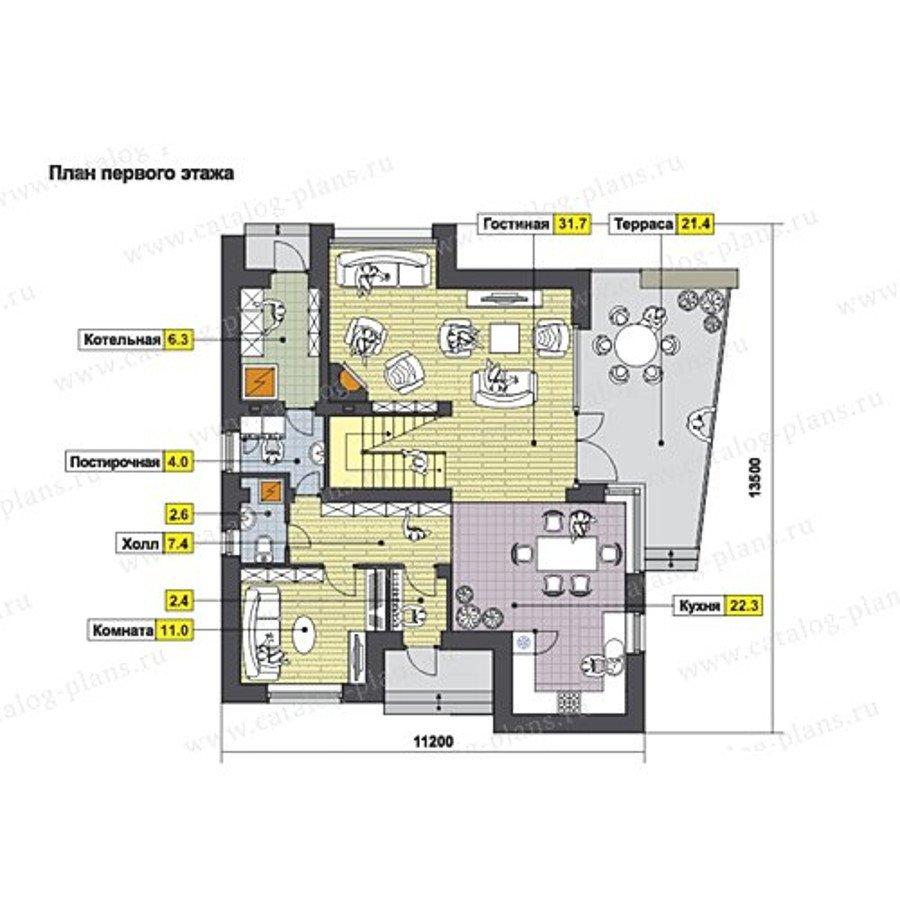 План 1-этажа проекта 49-70P