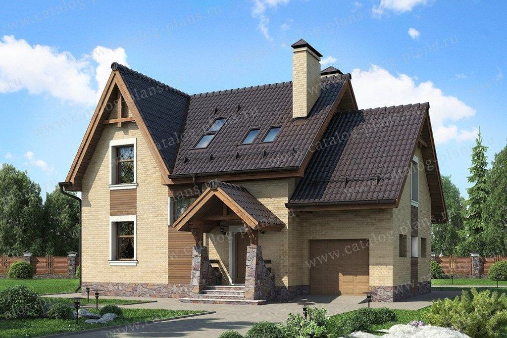 Проект жилой дом #49-51K материал - кирпич, стиль европейский