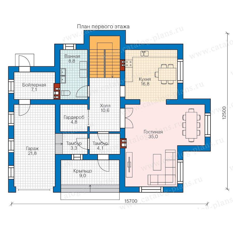 План 1-этажа проекта 57-97K