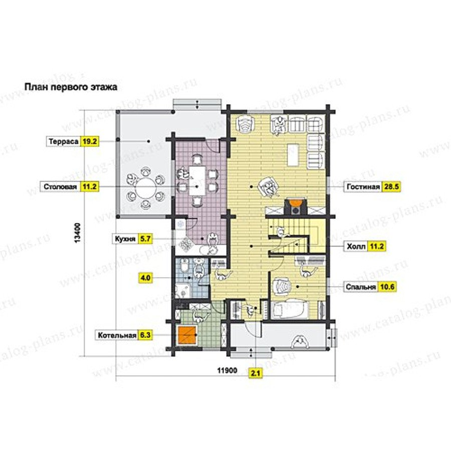План 1-этажа проекта 49-71B