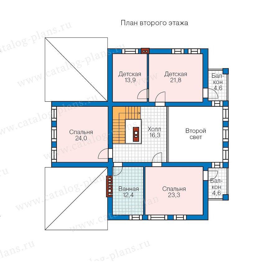 План 2-этажа проекта 57-82A