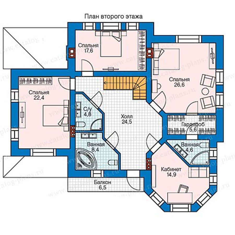 План 2-этажа проекта 58-44L