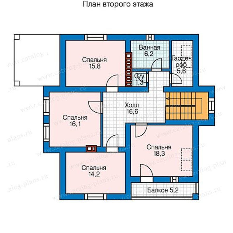 План 3-этажа проекта 58-49K