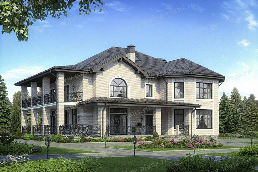 Проект жилой дом #58-48 материал - газобетон, стиль европейский