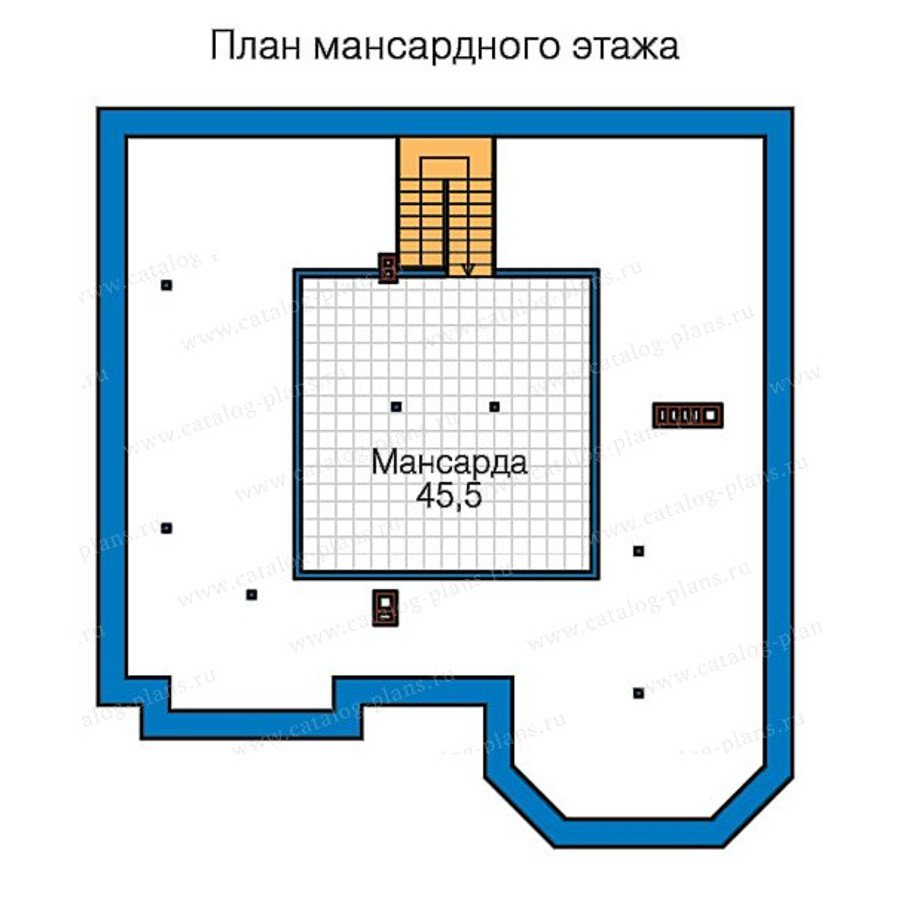 План 4-этажа проекта 58-48