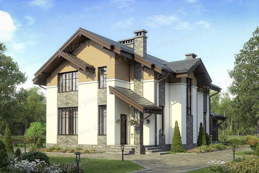 Проект жилой дом #58-45 материал - газобетон, стиль современный