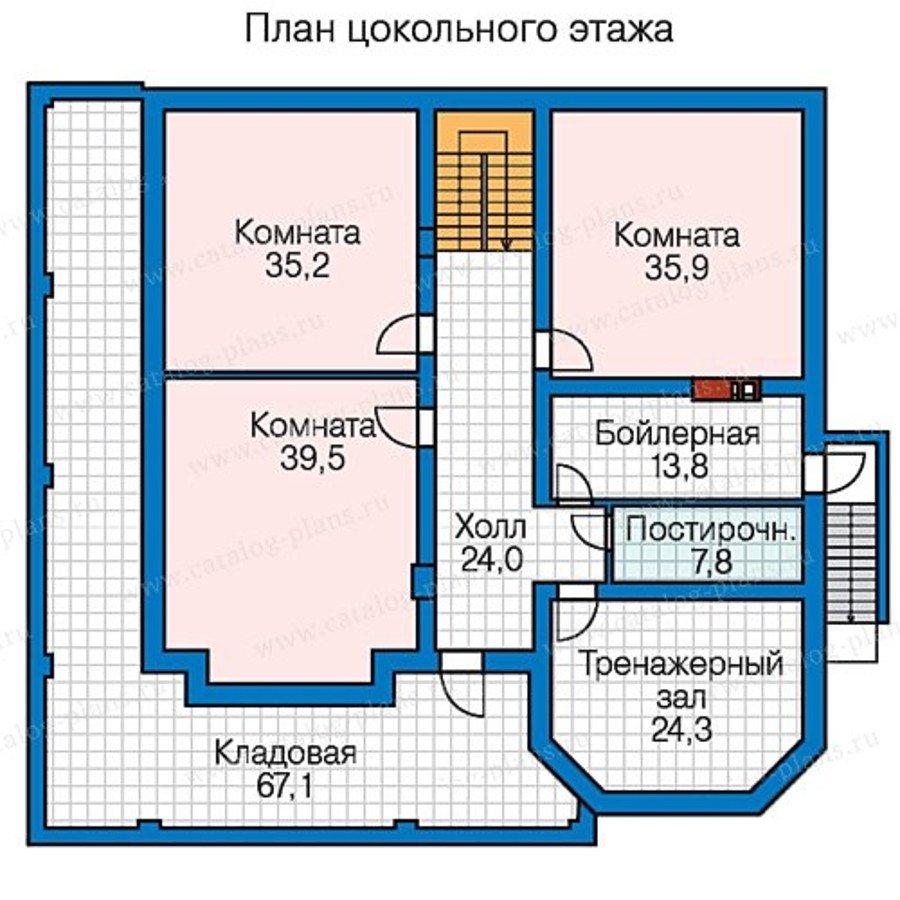 План 1-этажа проекта 58-48