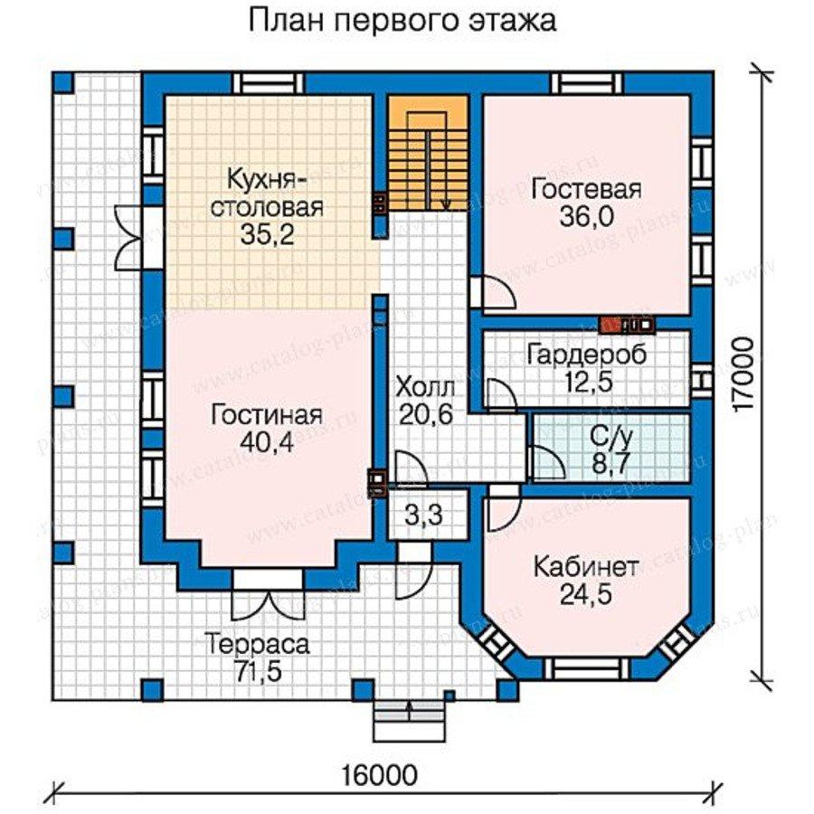 План 2-этажа проекта 58-48